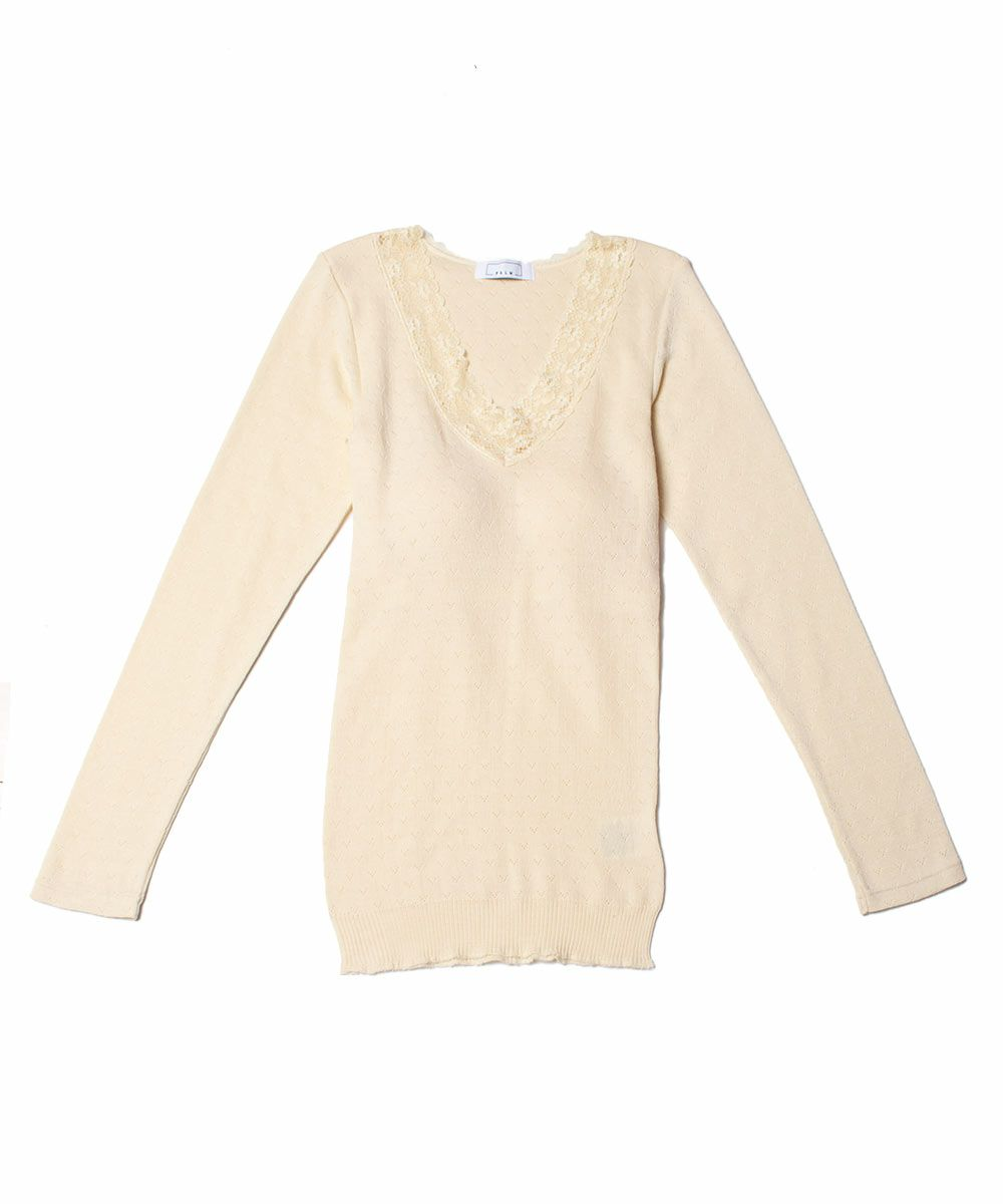 With Cup Long Sleeve Top